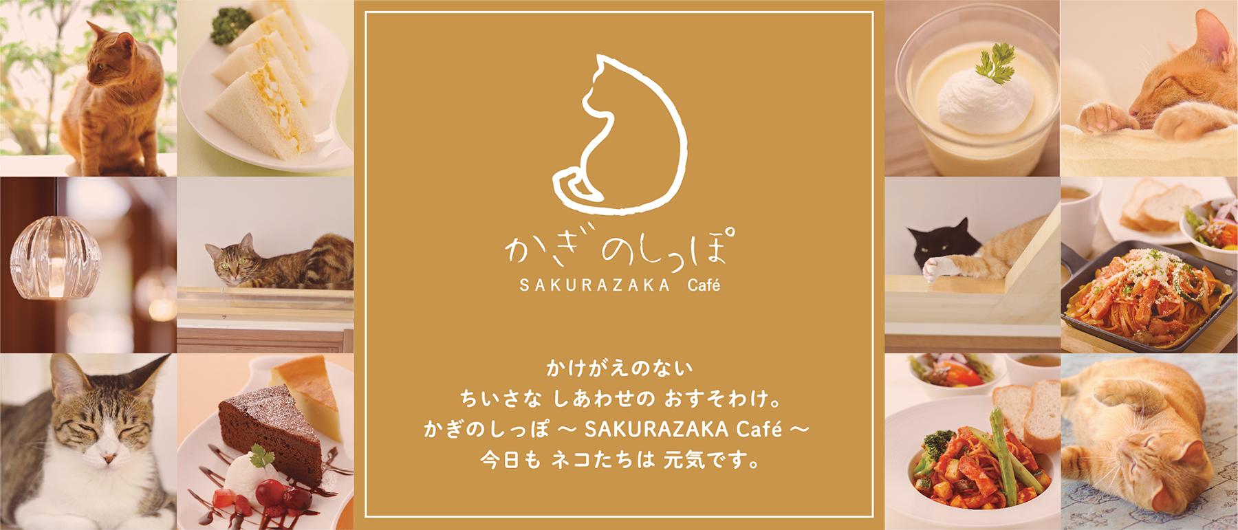 かけがえのないちいさなしあわせのおすそわけ。かぎのしっぽ 〜SAKURAZAKA Café〜 今日もネコたちは元気です。